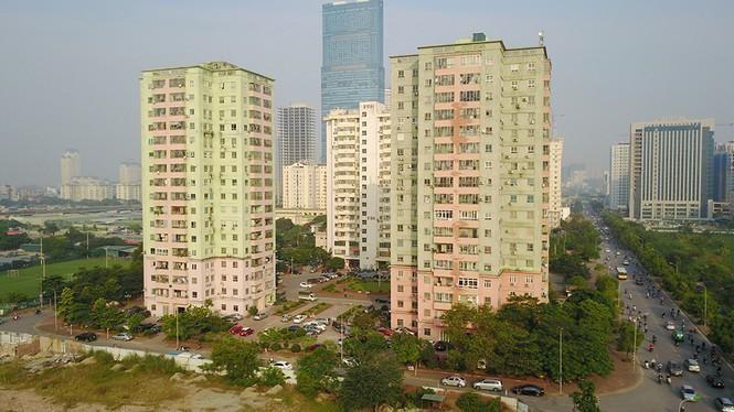 Khu tái định cư Nam Trung Yên, Hà Nội. Ảnh minh họa
