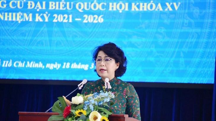 Bà Tô Thị Bích Châu – Chủ tịch Ủy ban MTTQ Việt Nam TP.HCM