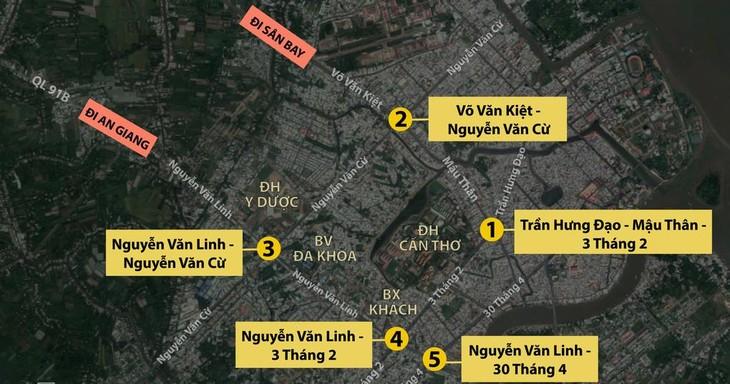 5 nút giao thông dự kiến được cải tạo ở TP Cần Thơ. Nguồn Internet