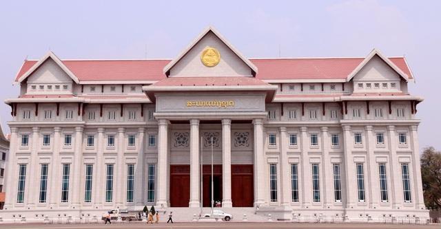 Công trình Nhà Quốc hội Lào trị giá hơn 111 triệu USD. Ảnh: Bộ Xây dựng