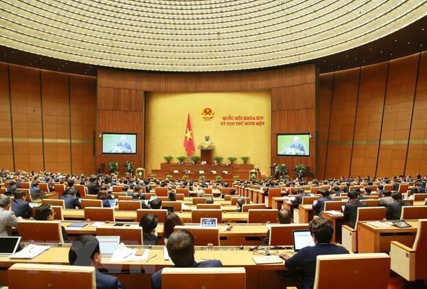 Quang cảnh ngày làm việc thứ nhất kỳ họp thứ 11, Quốc hội khóa XIV. Ảnh: TTXVN