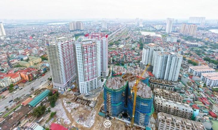 90 dự án trên địa bàn thành phố chưa hoàn thành nghĩa vụ tài chính. Trong ảnh: Dự án khu hỗn hợp nhà ở, dịch vụ công cộng văn phòng và trường học 360 Giải Phóng (Thanh Xuân), tiền chậm nộp phải thu gần 43 tỷ đồng.