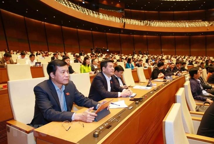 Đoàn đại biểu Quốc hội tỉnh Thái Bình tại kỳ họp. Ảnh: TTXVN