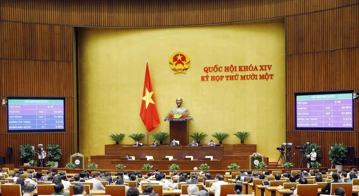Ngày 7/4, tiếp tục kiện toàn nhân sự Quốc hội, Chính phủ. Ảnh: TTXVN