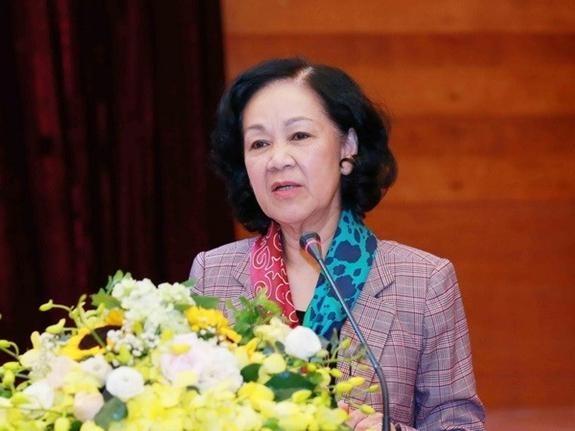 Bà Trương Thị Mai, Trưởng Ban Tổ chức Trung ương được Quốc hội bầu làm Uỷ viên Hội đồng Bầu cử Quốc gia. Ảnh: TTXVN