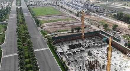 Thanh tra Sở Xây dựng Hà Nội vào cuộc kiểm tra khu chung cư C1-CT của dự án An Lạc Green Symphony xây dựng khi chưa được cấp phép