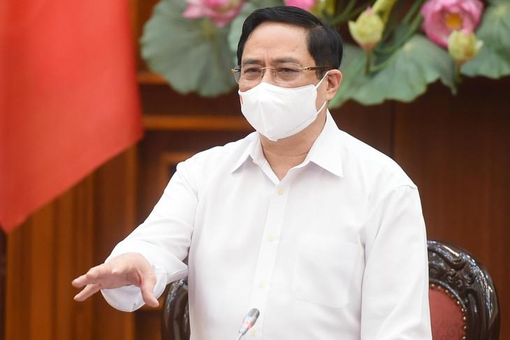 Thủ tướng Chính phủ Phạm Minh Chính phát biểu kết luận cuộc họp ngày 30/4. Ảnh: VGP