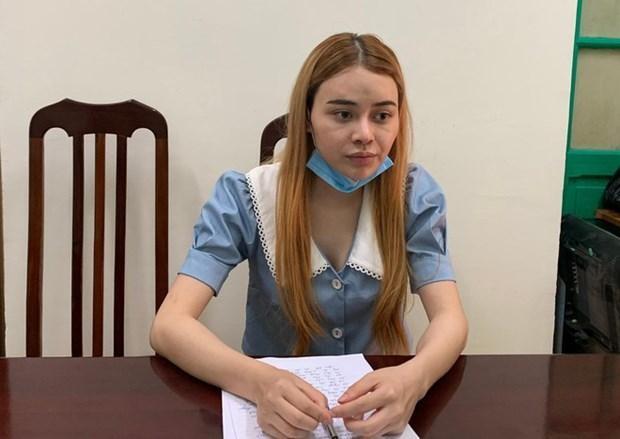 Trần Thị Phương Thảo tại cơ quan điều tra. Nguồn: An ninh Thủ đô