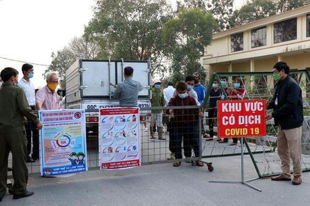Chốt kiểm soát dịch ở huyện Lương Tài