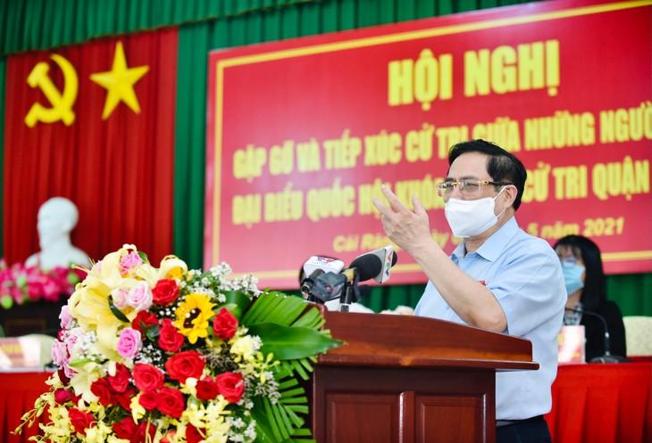 Thủ tướng Phạm Minh Chính nêu rõ, Chính phủ, Thủ tướng Chính phủ, các đại biểu Quốc hội có trách nhiệm với cả nước, vì cả nước. Ảnh: VGP