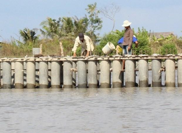 HSMT yêu cầu nhà thầu có 1 hợp đồng tương tự kè bảo vệ bờ sông tại khu vực Đồng bằng sông Cửu Long. Ảnh chỉ mang tính minh họa. Nguồn Internet