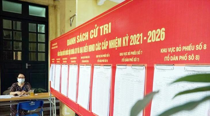 Hà Nội sẽ có 15 đoàn kiểm tra thực hiện kiểm tra lần hai về công tác chuẩn bị cho ngày bầu cử ở các địa phương. Ảnh: TG