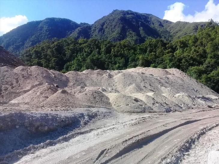 Một khu tập kết cát sỏi tại tỉnh TT- Huế