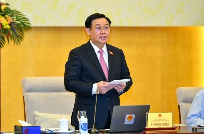 Chủ tịch Quốc hội, Chủ tịch Hội đồng Bầu cử quốc gia Vương Đình Huệ cho biết đến nay, mọi công tác chuẩn bị cho cuộc bầu cử cơ bản hoàn thành, sẵn sàng để tổ chức bầu cử vào ngày 23/5 sắp tới. Ảnh: Quốc hội.