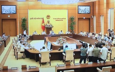 Khai mạc phiên họp thứ 56 của Ủy ban Thường vụ Quốc hội. Ảnh: VGP