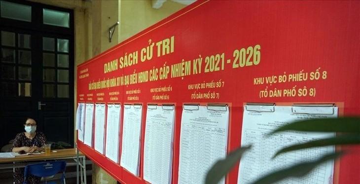 Hà Nội công bố danh sách 95 người trúng cử đại biểu HĐND TP khóa XVI, nhiệm kỳ 2021 - 2026. Ảnh: TG