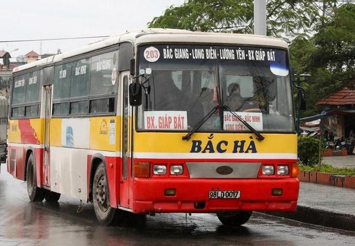 Tuyến buýt số 203 chạy Hà Nội - Bắc Giang
