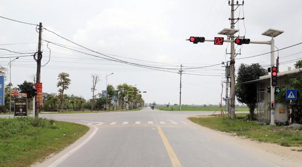 Điểm cuối tuyến đường An Viên Mỹ Thành đấu nối với ngã tư Xuân Thành - Xuân Hội. Ảnh: Báo Hà Tĩnh