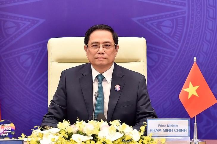 Thủ tướng Chính phủ Phạm Minh Chính dự và phát biểu tại Hội nghị Thượng đỉnh đối tác vì tăng trưởng xanh và mục tiêu toàn cầu 2030 (P4G)