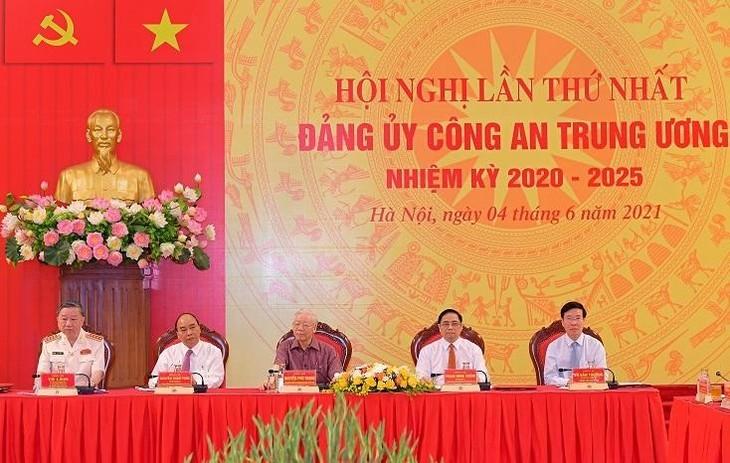 Tổng Bí thư Nguyễn Phú Trọng, Chủ tịch nước Nguyễn Xuân Phúc, Thủ tướng Chính phủ Phạm Minh Chính, Thường trực Ban Bí thư Võ Văn Thưởng dự buổi lễ.