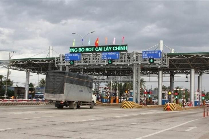 Trạm thu phí Cai Lậy thuộc Dự án xây dựng tuyến tránh thị xã Cai Lậy. Ảnh HH