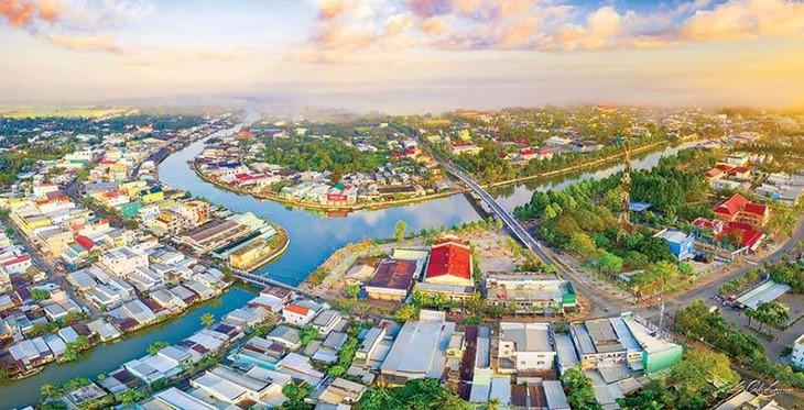 Dự án Khu đô thị mới thị xã Long Mỹ 2 tại phường Thuận An, thị xã Long Mỹ, Hậu Giang. Ảnh Internet
