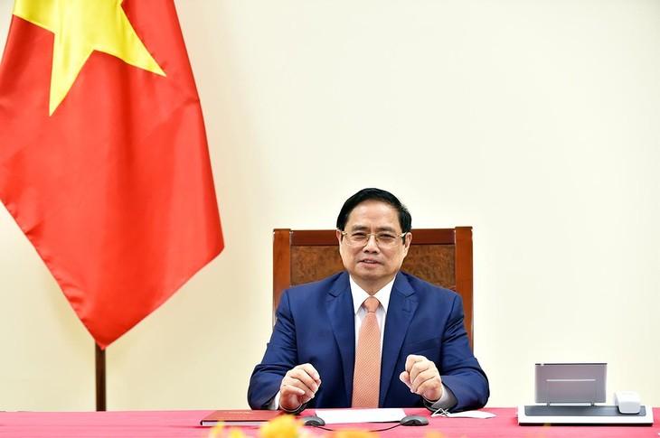 Thủ tướng Phạm Minh Chính khẳng định Việt Nam luôn coi trọng quan hệ Đối tác chiến lược với Đức, mong muốn làm sâu sắc hơn quan hệ gần gũi và tin cậy giữa hai nước trên mọi lĩnh vực. - Ảnh: VGP