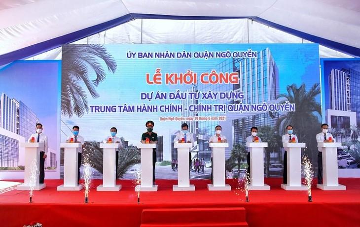 Lễ khởi công Dự án đầu tư xây dựng Trung tâm Hành chính - Chính trị quận Ngô Quyền