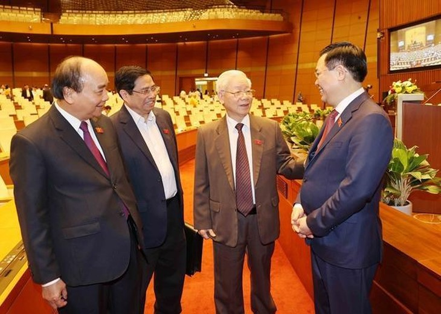Lãnh đạo Đảng, Nhà nước tại kỳ họp thứ 11, Quốc hội khóa XIV