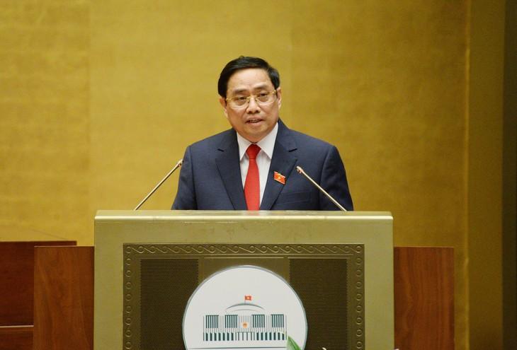 Thủ tướng Chính phủ Phạm Minh Chính trình Quốc hội cơ cấu số lượng thành viên Chính phủ