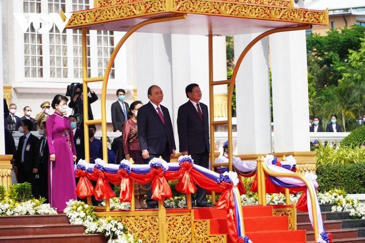 Lễ đón Chủ tịch nước Nguyễn Xuân Phúc và Phu nhân với nghi thức cao nhất dành cho nguyên thủ quốc gia