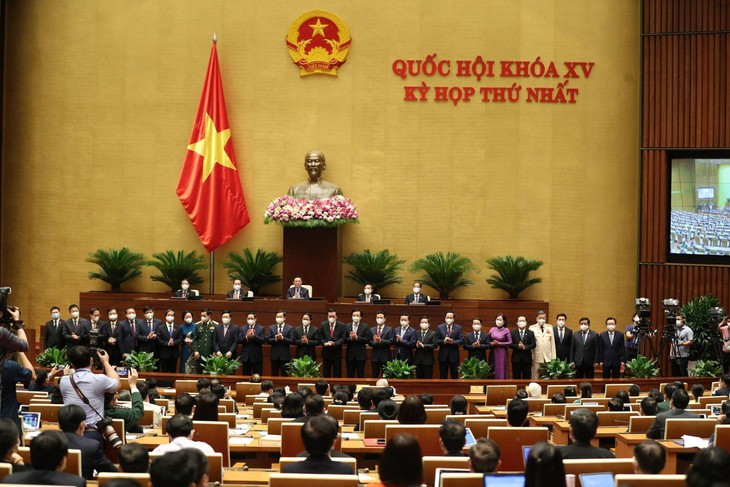 Các thành viên Chính phủ ra mắt trước Quốc hội khóa XV