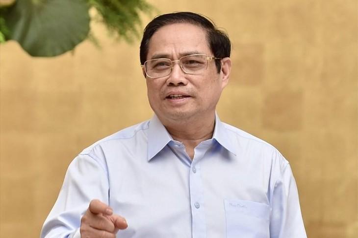 Thủ tướng Phạm Minh Chính: Nhất định chúng ta sẽ sớm chiến thắng đại dịch Covid-19. Ảnh: Nhật Bắc