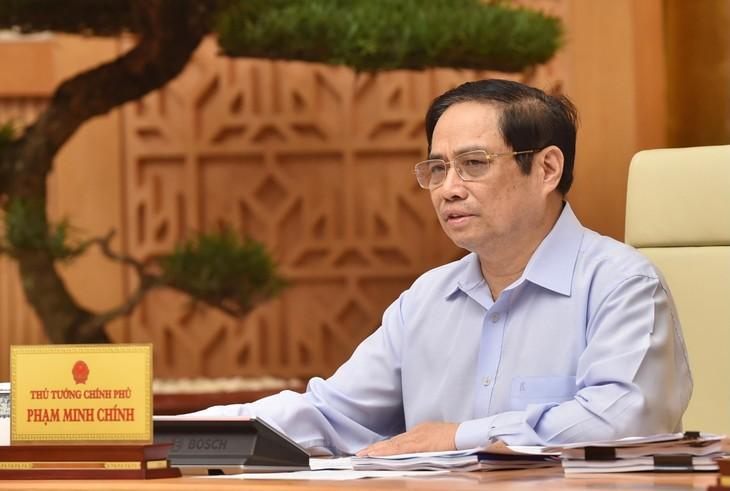 Thủ tướng Phạm Minh Chính chủ trì Hội nghị trực tuyến toàn quốc về công tác quy hoạch do Thường trực Chính phủ tổ chức. Ảnh: VGP
