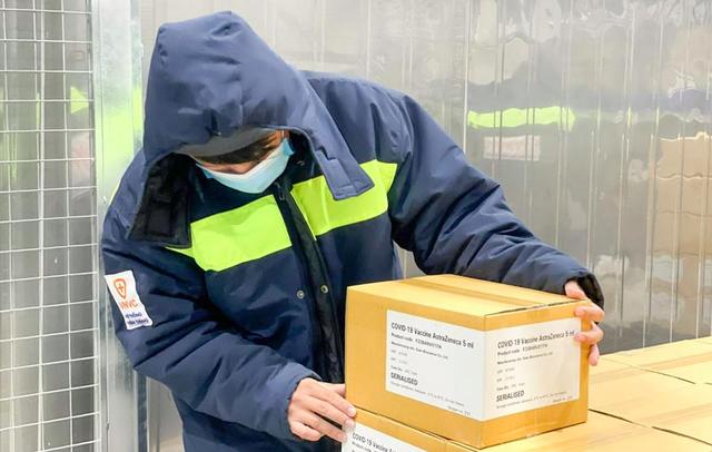 28 tỉnh từ Hà Tĩnh trở ra miền Bắc tiếp nhận 448.400 liều vaccine AstraZeneca trong đợt này