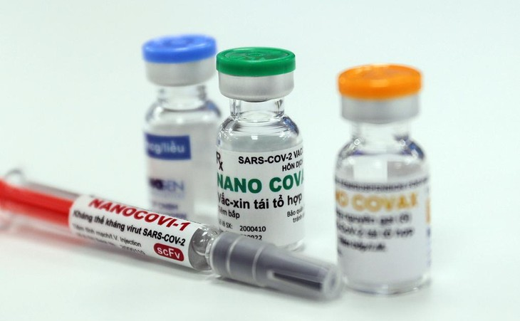 Mẫu vaccine Nanocovax do công ty Nanogen sản xuất tại nhà máy ở TP HCM. Ảnh: Quỳnh Trần