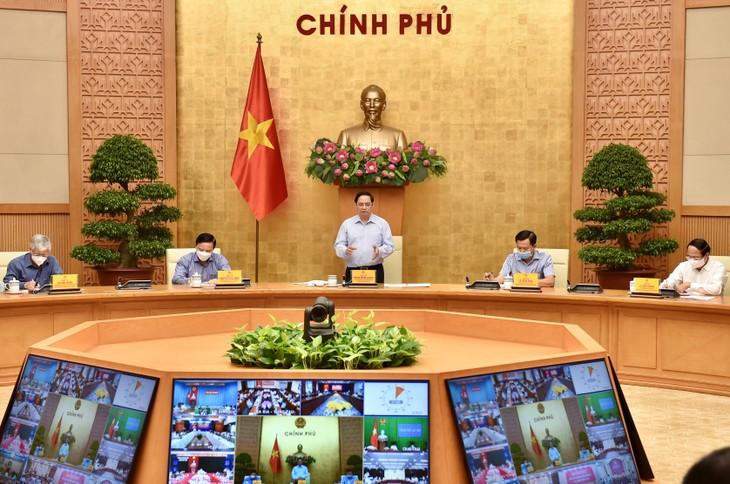 Thủ tướng Chính phủ Phạm Minh Chính phát biểu mở đầu cuộc họp - Ảnh: VGP