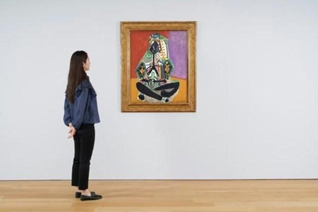 """Hai bức tranh của Picasso, bao gồm """"Crouching Woman in Turkish Costume (Jacqueline)"""" sẽ được bán đấu giá trong đợt bán hàng mùa thu của Christies vào tháng 11.2021. Ảnh: AFP"""
