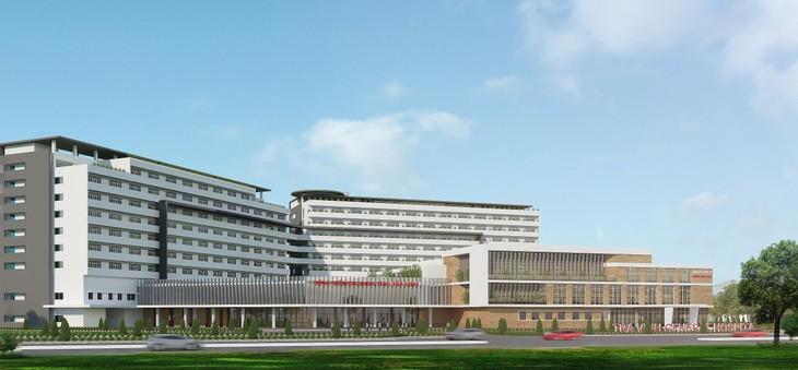 Phối cảnh Bệnh viện Đa khoa tỉnh Trà Vinh