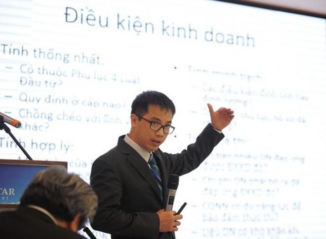 Ông Đậu Anh Tuấn cho biết có nhiều đề cử cho các quy định tồi trong lĩnh vực điều kiện kinh doanh-Ảnh VCCI