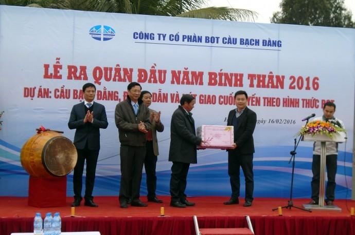 Lãnh đạo Quảng Ninh và Hải Phòng đến dự Lễ ra quân đầu năm Dự án cầu Bạch Đằng