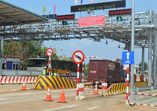 Trạm thu phí BOT trên đường Hồ Chí Minh đoạn qua huyện Đắk Mil, tỉnh Đắk Nông Ảnh: Cao Nguyên
