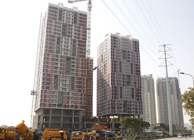 Dự án Usilk City ở Q.Hà Đông, Hà Nội bị chậm bàn giao nhà do quá phụ thuộc vào nguồn vốn ngắn hạn - Ảnh: Lê Quân