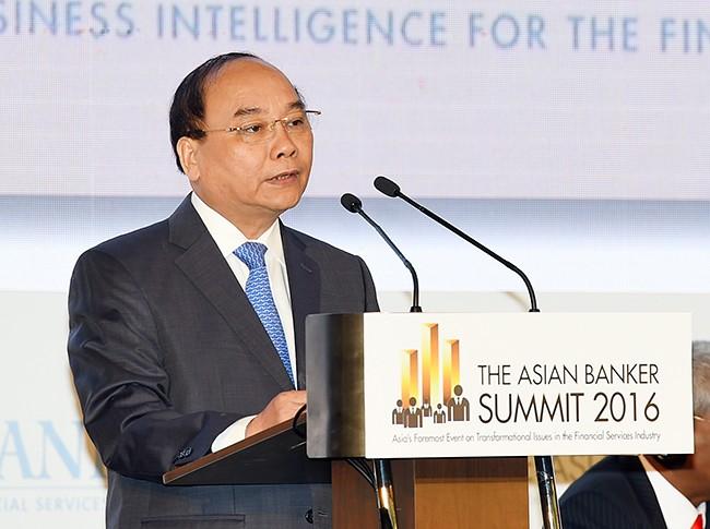 Thủ tướng Nguyễn Xuân Phúc phát biểu tại Hội nghị. Ảnh: Thanh Tú