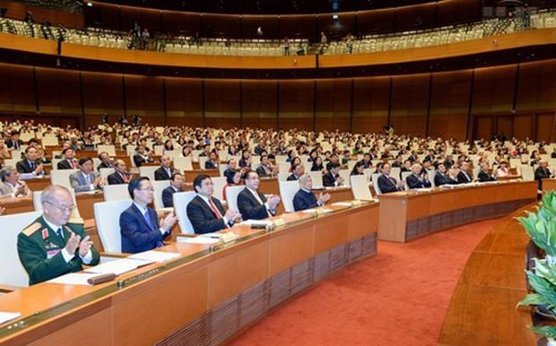 Một phiên họp của Quốc hội khoá 13.