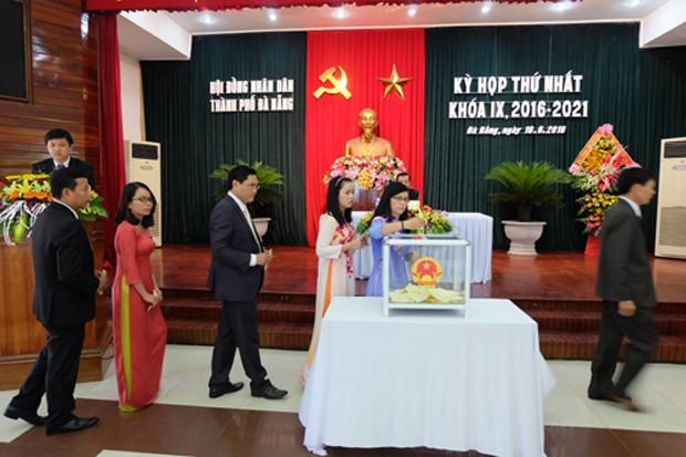 HĐND TP. Đà Nẵng bầu các chức danh lãnh đạo nhiệm kỳ 2016-2021