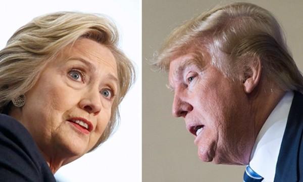 Hillary Clinton (trái) và Donald Trump. Ảnh: LA Times.