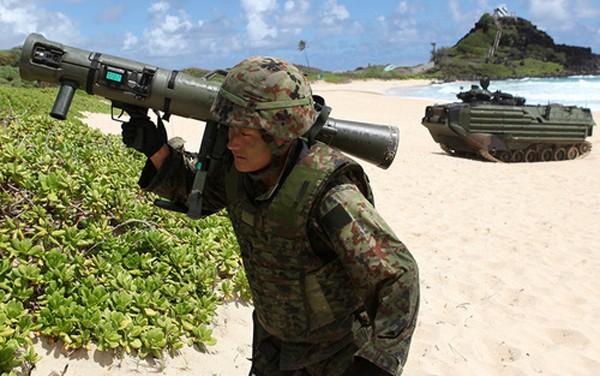 Binh sĩ Lực lượng Phòng vệ Nhật Bản. Ảnh:AP.