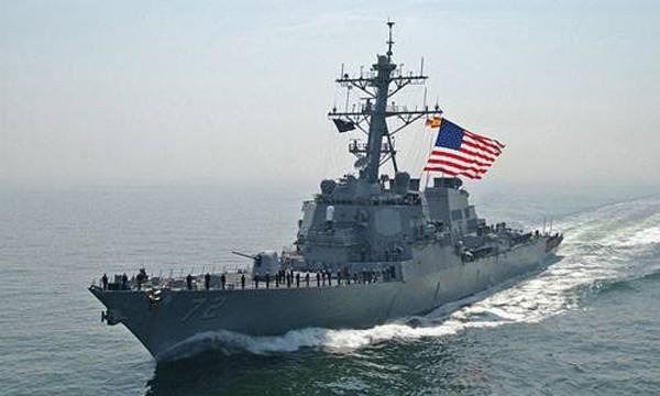 Tàu khu trục Mỹ USS Mahan. Ảnh:Wikipedia