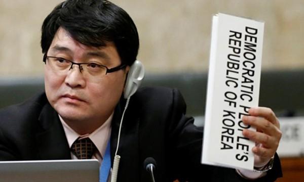 Ju Yong-choi, Cố vấn Phái đoàn Triều Tiên tại Liên Hợp Quốc. Ảnh:Reuters.